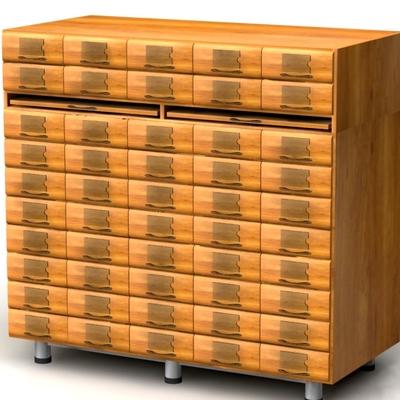 Шкаф картотечный для архивниых карточек 213х55Н мм.