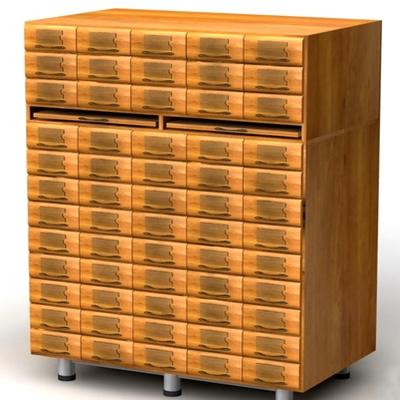 Шкаф картотечный для архивниых карточек 162х43Н мм