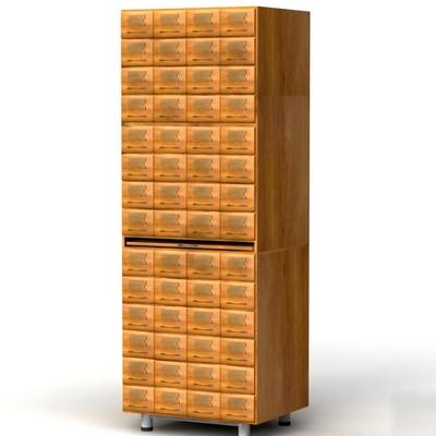 Шкаф картотечный для архивниых карточек 145х101Н мм.
