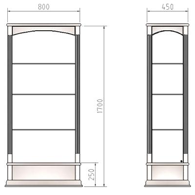 Мобильные витрины по размерам заказчика