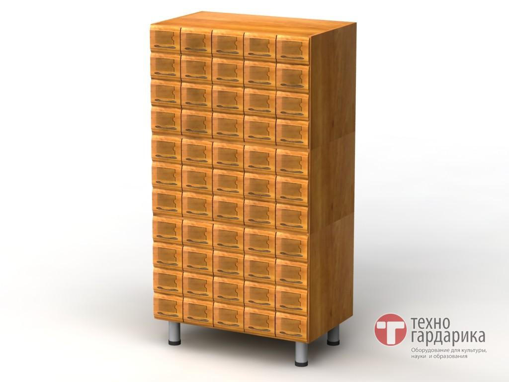 Шкаф каталожный, 3-модульный, 55 ящиков (11х5), на опорах h1.
