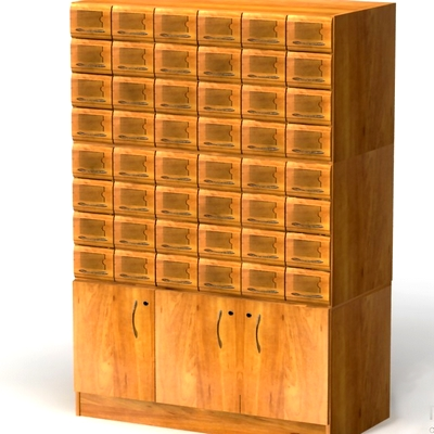 Шкафы каталожные на деревянных основаниях