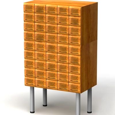 Шкафы каталожные на металлических опорах