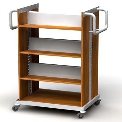 Тележки, стеллажи, мобильные столы (деревянные)